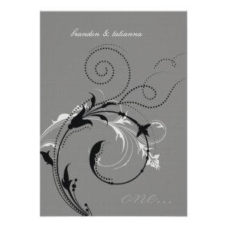 311-Dotted Desire |  Gray Personalized Invite