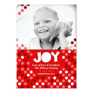 311 Dotted Joy Photo Holiday Card