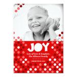 "311 Dotted Joy Photo Holiday Card 5"" X 7"" Invitation Card"