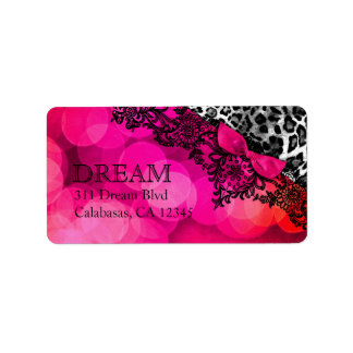 311 Dream in Leopard & Lace Address Label
