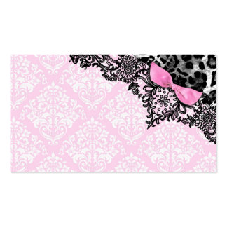 311 Dream in Leopard & Lace Girly Pink Name Card