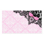 311 Dream in Leopard & Lace Girly Pink Name Card Business Cards
