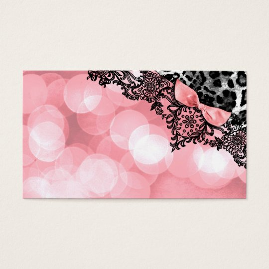 311 Dream in Leopard & Lace Sweet Pink Name Card