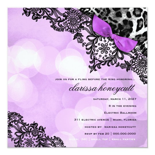 311 Dream in Lights Leopard & Lace Violet Card