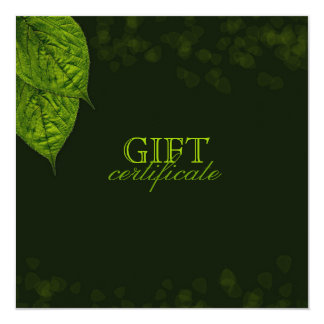 311 Dream Leaf Gift Certificate Personalized Invitations