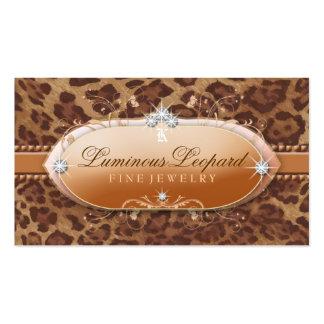 311 el leopardo luminoso tarjetas de visita