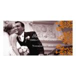 311 el naranja fresco de estrellazo del damasco    tarjetas fotográficas personalizadas