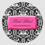 311-Elegant Pink Blast Damask Stickers