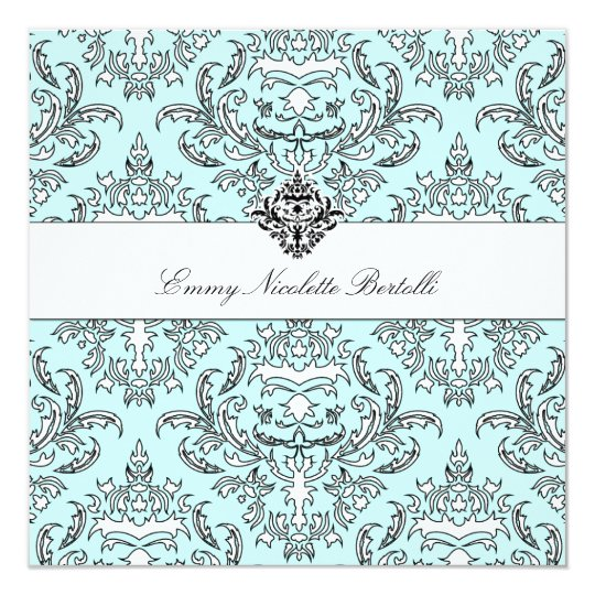 311-Emmy Sky Damask Invitation