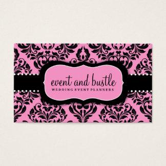 311 Event & Bustle Pink Damask Business Card