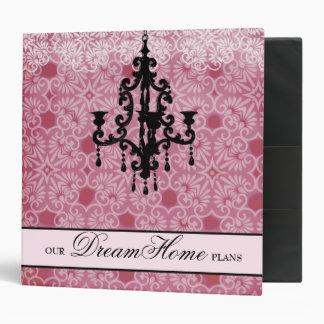 311-Faded Pink & Black Chandelier Binder