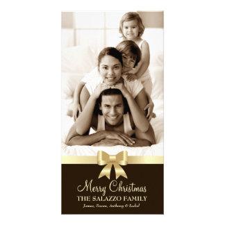 311-Family Christmas Photo Card Golden Bow