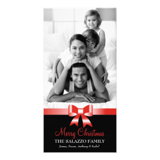 311-Family Christmas Photo Card Red Bow