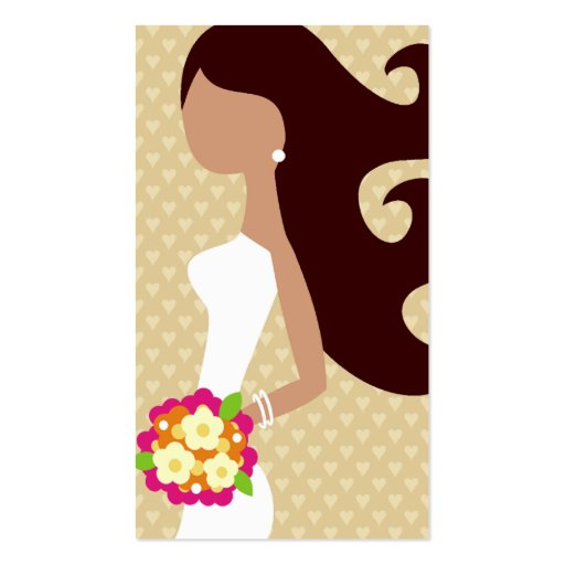 311-FASHION BRIDE INTERCHANGEABLE HAIR BUSINESS CARD TEMPLATE