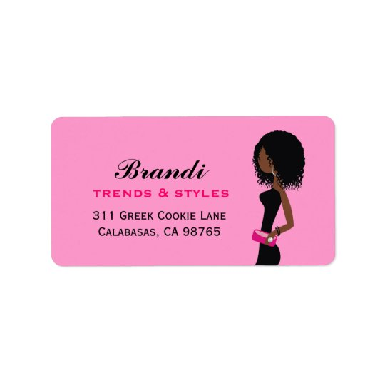 311 Fashionista African American Curly Hair Labels