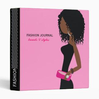 311-Fashionista | African American | Curly Hair Pi Vinyl Binders