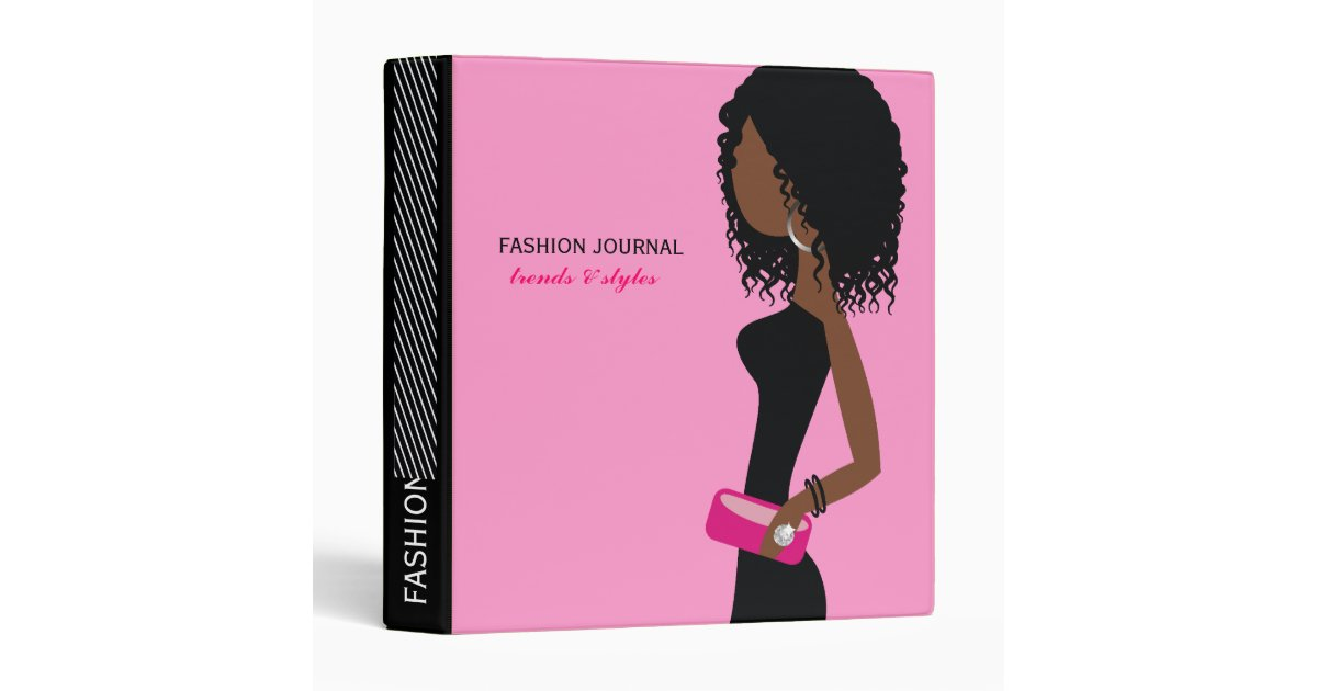 311 Fashionista African American Curly Hair Pi Binder