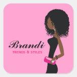 311 Fashionista African American Curly HairSticker Sticker