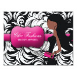 311 Fashionista Gift Card African American Custom Announcement