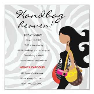 311-Fashionista Handbag Heaven Invitation