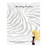 311-Fashionista Money Green Zebra | Blond Custom Letterhead