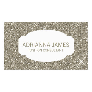 311 Faux Gold Sparkle Glitter Business Card Templates