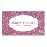 311 Faux Pink Sparkle Glitter Business Card