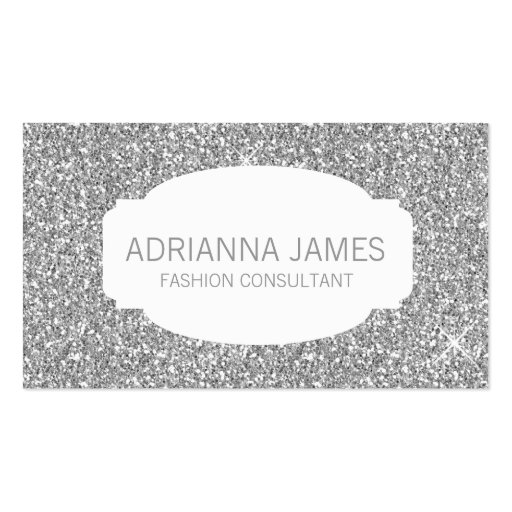 311 Faux Silver Sparkle Glitter Business Cards