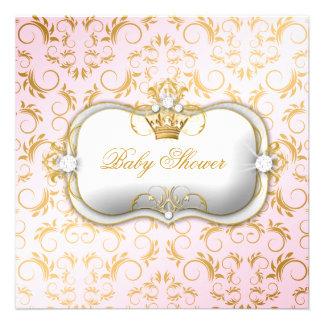 311 fiestas de bienvenida al bebé rosadas divinas invitación