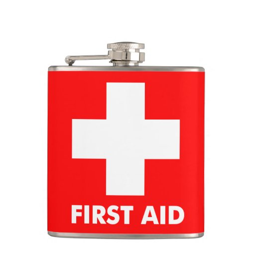311 First Aid Flask Red