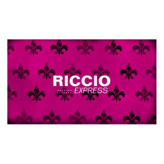 311 Fleur de Grunge Hott Pink Business Card