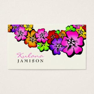 311 Flower Shower Lei Cream Business Card