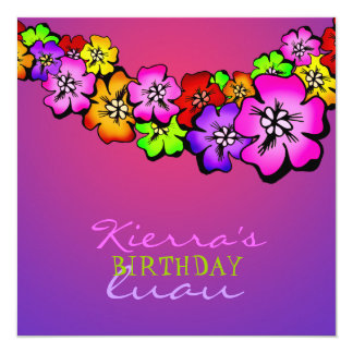 311 Flower Shower Lei Invitation | Sunset