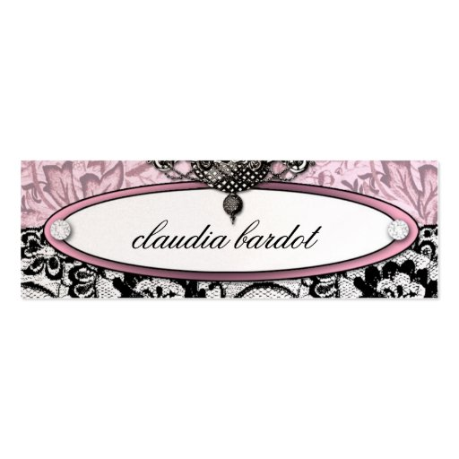 311 Frenchie Budoir   Vintage Pink Business Card Template