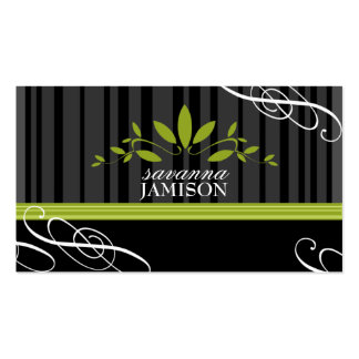 311-FRESH GARLAND BLACK Double-Sided STANDARD BUSINESS CARDS (Pack OF 100)