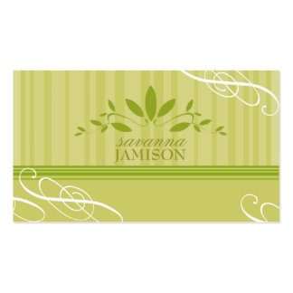 311-FRESH GARLAND GREEN Double-Sided STANDARD BUSINESS CARDS (Pack OF 100)
