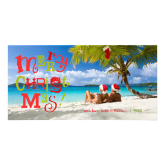 311-FUN-ky Merry Christmas Custom Photo Personalized Photo Card