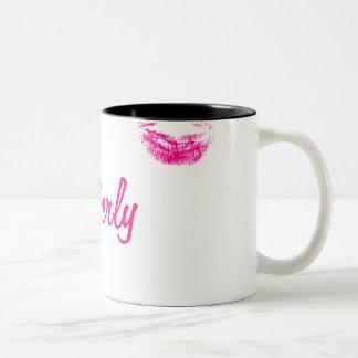 311 Funny Faux Lipstick Imprint Two-Tone Coffee Mug