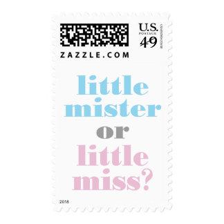 311 Gender Reveal Little Mister, Little Miss Stamp