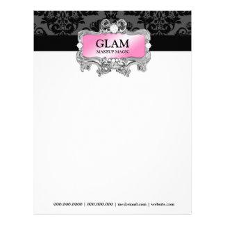 311 Glam Crazy Letterhead Damask