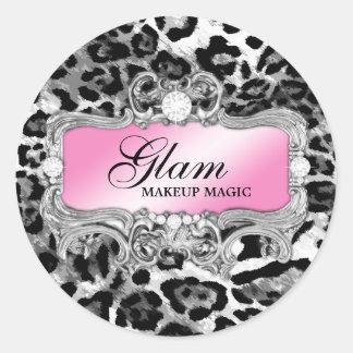 311 Glam Crazy Sticker Black Leopard