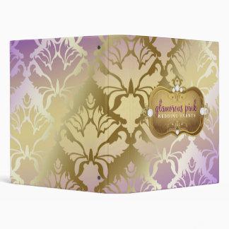 311 Glamorous Lilac Damask 3 Ring Binder