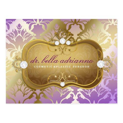 311 Glamorous Lilac Damask Post Cards