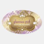 311 Glamorous Lilac Damask Sticker