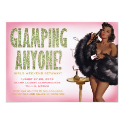 311 Glamping Anyone Pinup Girl African American Card