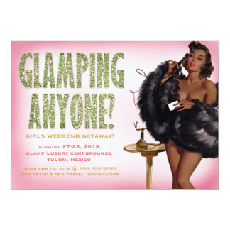 311 Glamping Anyone Pinup Girl African American Card