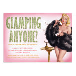 311 Glamping Anyone Retro Pinup Girl 5x7 Paper Invitation Card