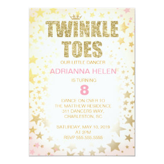 311 Glitter Twinkle Toes Dancer Invitation