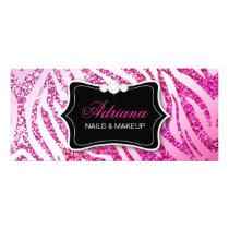 311 Glitter Zebra Pink Rack Card