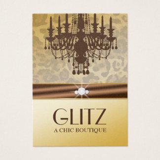 311-Glitz Boutique - Leopard Diamond Chocolate Business Card